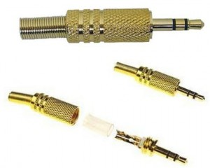 Wtyk Jack 3,5mm 3.5 Stereo Gold Metal ! !